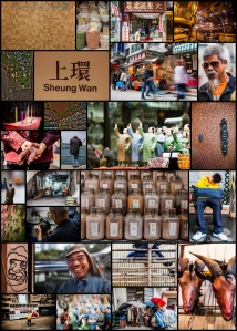 Sheung Wan MTR collage